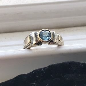 Jewelry - Sterling silver ring with blue stone.